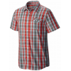 Mountain Hardwear Stout Short Sleeve Shirt - Men's-Fiery Red-Small