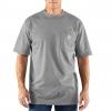 Carhartt Flame-Resistant Force Cotton Short Sleeve T-Shirt, Light Gray, Medium/Tall