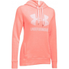 Under Armour Favorite Fleece Sportstyle Hoody - Women's-London Orange Heather/White-X-Small