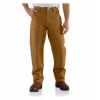 Carhartt Double-Front Work Dungaree - Men's-Carhartt Brown-Extra Long Inseam-32 Waist