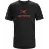 Arc'Teryx Arc'word HW Short Sleeve T-Shirt - Men's-Black/Cardinal-X-Small