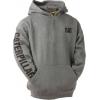 Caterpillar Trademark Banner Hooded Sweatshirt, Dark Heather Grey, 2XL