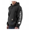 Carhartt Midweight Hooded Logo Sweatshirt - Men's-Black-Medium