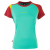 La Sportiva Move T-Shirt - Women's-Mint/Berry-Large