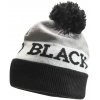 Black Diamond Tom Pom Beanie - Men's -Black/White/Nickel-One Size