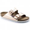 Birkenstock Arizona Metallic Soft Footbed Sandal - Women's-Copper-Narrow-38