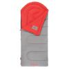 Coleman Dexter Point 50 Regular Sleeping Bag, Contoured Head, Gray/Red, 78x33in