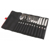 Coleman Rugged 12-Piece Stainless Steel Utensil Set, Roll Up Case, Black / Stainless