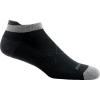 Darn Tough Running Vertex No Show Tab Ultra Light Cushion Cool Max Sock - Men's, Black, Large