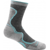 Darn Tough Junior Light Hiker Micro Crew Light Cushion Sock - Girls, Slate/Seafoam, Large