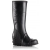 Sorel Joan Rain Wedge Tall Rubber Boot, Women's, Black/Sea Salt, 12 US