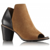Sorel Nadia Bootie Suede Casual Boot, Women's, Camel Brown, 10 US