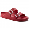Birkenstock Arizona Metallic Soft Footbed, 41 Euro, Red, 41
