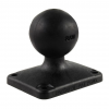 Ram Mounts RAM 2in x 2.5in Composite Rectangle Base with 1.5in Ball, Black