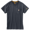 Carhartt Force Cotton Delmont Short Sleeve T Shirt Relaxed Fit - Mens, Granite Heather, XX-Large-Regular