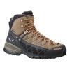 Salewa Alp Flow Mid GTX Women's Hiking Shoes, Walnut/Peach Coral, 10 US