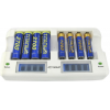 Titanium Smart Fast 8 Bay Battery Charger, White