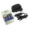 Titanium 1 Hour Smart Ultra-Quick Battery Charger w/ AC/DC Plug, White