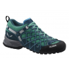 Salewa Wildfire S GTX Approach Shoe - Women's-Cyprss/River Blue-Medium-6 US