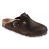 Birkenstock Boston Suede Soft Footbed Sandal - Women's-Mocha-Medium-41