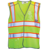Caterpillar 5 Point Break Away Safety Vest, Hi-Vis Yellow, Medium/Large