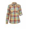Woolrich Conundrum Convertible Women's Shirt, Baked Clay Multi, L