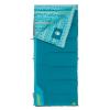 Coleman Kid's 50 Rect Sleeping Bag, Glow In The Dark Design, Interior Tuck Pocket, Teal, 60 x 26 in