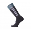 Point 6 Ski/Christie II Light OTC Women's Sock, Gray, Small