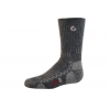 Point 6 Hike Tech Medium Crew Kid's Socks, Gray, Extra Small