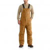 Carhartt Flame Resistant Quick Duck Lined Bib Overall For Mens, Brown, 30/28