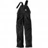 Carhartt Flame Resistant Duck Bib Overall, Black, 30/28