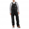 Carhartt Duck Bib Overall For Mens, Black, 30/28