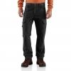 Carhartt Ripstop Cargo Work Pant For Mens, Black, 28/30