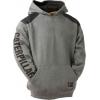 Caterpillar Logo Panel Hooded Sweatshirt, Dark Heather Grey, 2XL