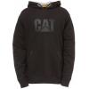 Caterpillar Lightweight Tech Hooded Sweatshirt, Black, 2XL