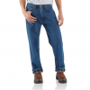 Carhartt Relaxed Fit Straight Leg Flannel Lined Pants For Mens, Darkstone, 28/30