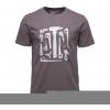 Black Diamond Big Wall Tool Logo Men's Short Sleeve Tee Shirt, Slate, Large
