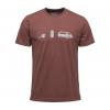 Black Diamond Dirtbag Men's Logo Short Sleeve Tee Shirt, Mocha, Large