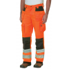 Caterpillar Hi Vis Trademark Work Pant, Hi Vis Orange Black, 28/30