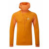 Mountain Equipment Eclipse Hooded Zip Tee - Men's-Electrum/Marmalade-Small
