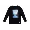 Vast Ocean Photo Agenda Long Sleeve T-Shirt, Black, Large