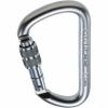 C.A.M.P. Steel D Lock Carabiner, Silver