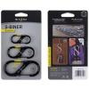 Nite Ize 3 Pack S-Biner SlideLock Steel, Black