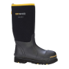 Dryshod Steel-Toe Hi Protective Work Boot, Black/Yellow, 7