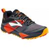 Brooks Cascadia 12 GTX Trail Running Shoe - Men's-Black/Ebony/Cherry Tomato-Medium-8