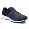Brooks Ravenna 9 Men's Road Running Shoe, Ebony/Blue/Orange, 8 US