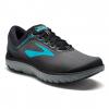 Brooks PureFlow 7 Women's Road Running Shoe, Grey/Black/Green, 6 US