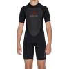 Level Six Youth Shorty Wetsuit, Black, 10