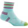 Darn Tough Running Vertex 1/4 Ultra Light Cushion Cool Max Sock - Women's, Aqua, Medium