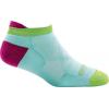 Darn Tough Running Vertex No Show Tab Ultra Light Cool Max Sock - Women's, Aqua, Large